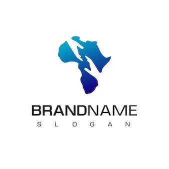 Logo di solidarietà africana simbolo di assistenza africana