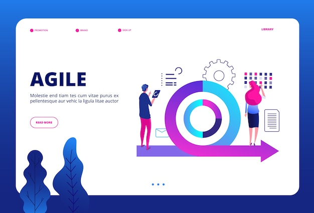 Modello di pagina di destinazione per la gestione agile