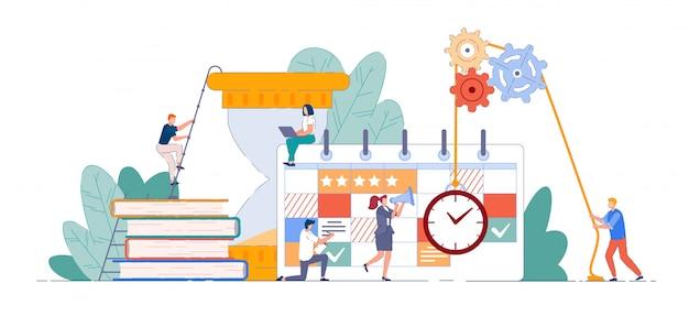 Squadra agile. uomini d'affari che progettano e lavorano con la scheda scrum o kanban. team che lavora sulla strategia di gestione del tempo e l'agilità in ufficio. concetto di lavoro di squadra agile