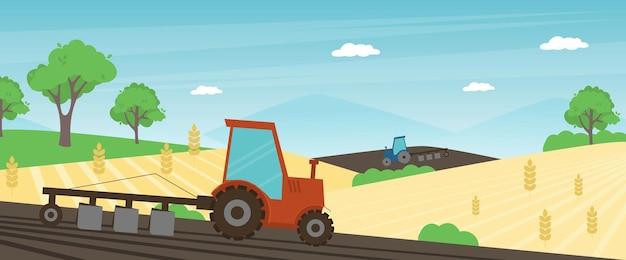 Banner di fattoria agricola.