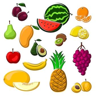 Raccolta di agricoltura o utilizzo del design di ricette alimentari da dessert