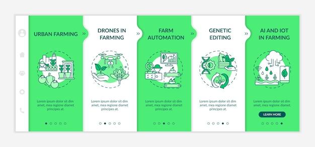 Modello di onboarding per innovazione agricola
