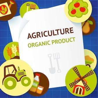 Agricoltura design del prodotto biologico