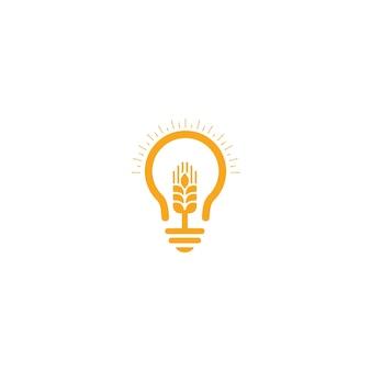 Progettazione dell'icona del modello di vettore di logo del grano di agricoltura