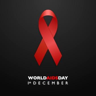 Aiuta la consapevolezza del nastro rosso. aids day concept.