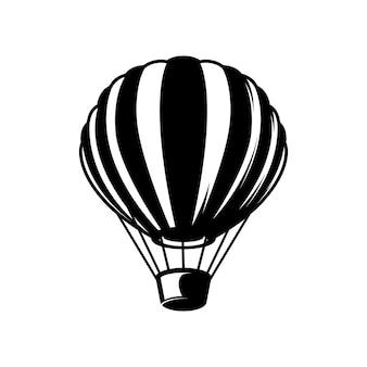 Illustrazione dell'aerostato di aria su priorità bassa bianca