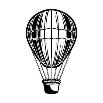 Illustrazione dell'aerostato di aria su priorità bassa bianca Vettore Premium