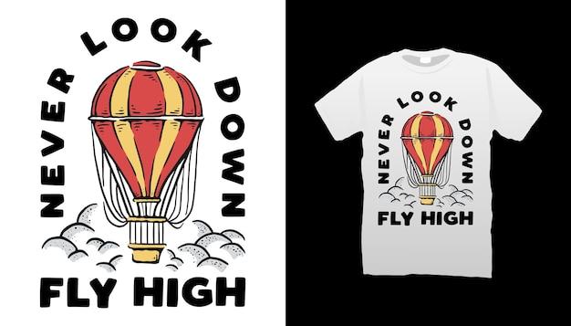 Disegno della maglietta dell'aerostato di aria