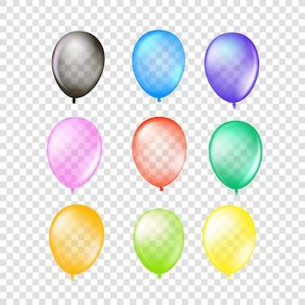 Collezione di palloncini d'aria isolato su sfondo trasparente