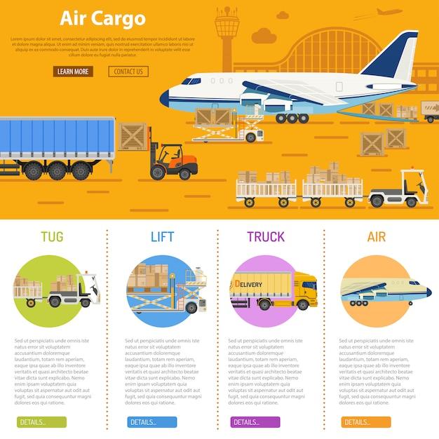 Infografica del trasporto aereo di merci