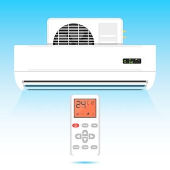 Illustrazione del vento dell'icona del condizionatore d'aria
