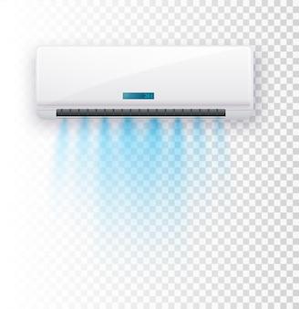 Condizionatore d'aria isolato illustrazione vettoriale correnti d'aria vettoriale