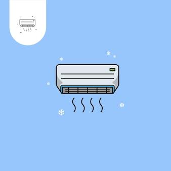 Disegno vettoriale del condizionatore d'ariauso perfetto per l'icona del design del modello web ui ux ecc