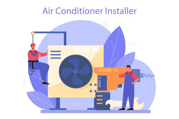 Servizio di riparazione e installazione aria condizionata.