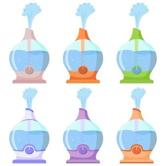 Umidificatore d'aria durante il lavoro dispositivo per umidificare l'aria secca diffusore con getto di vapore umidità salutare attrezzature per la casa o l'ufficio purificatore d'aria dispositivo per la pulizia e l'umidificazione
