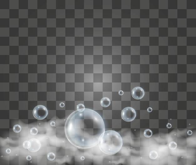 Illustrazione di bolle di sapone d'aria