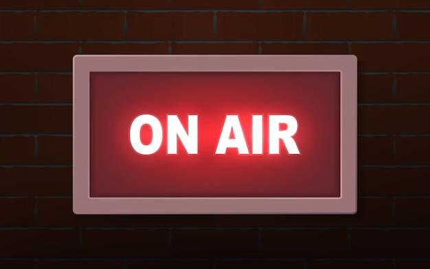 On air studio luce di trasmissione