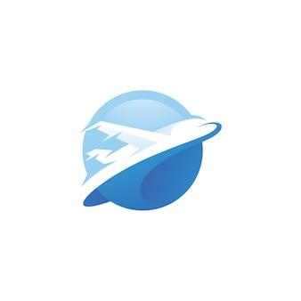 Logo di aviazione aereo aereo