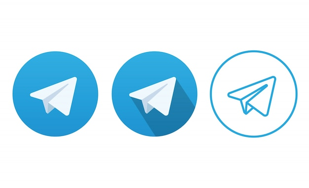 Vettore blu dell'icona del bottone degli aerei Vettore Premium