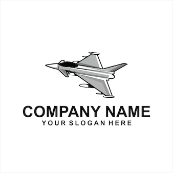 Vettore logo aereo jet