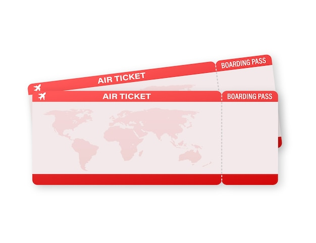 Biglietti aerei o carta d'imbarco all'interno della busta di servizio speciale.