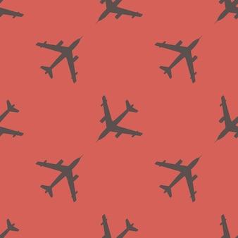 Illustrazione del modello di aeroplano. immagine in stile creativo e militare