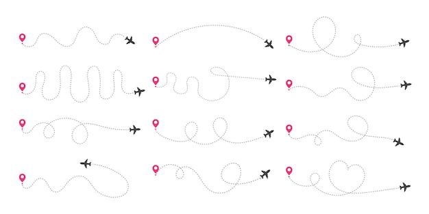 Tratte aeree. viaggia dal punto iniziale e dal tracciato della linea tratteggiata.