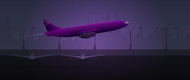 Aeroplano sulla pista