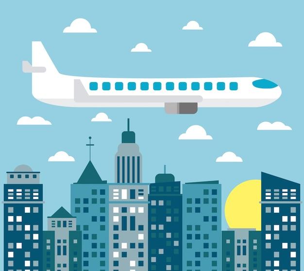 Sole della città di trasporto aereo