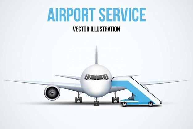 Illustrazione di servizio aeroportuale.