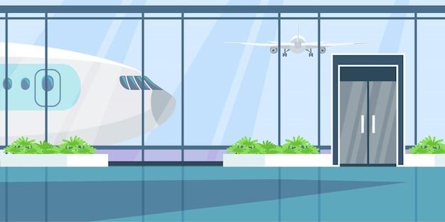 Illustrazione piana del terminal dell'aeroporto.