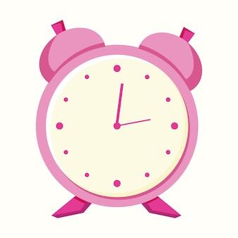 Sveglia, orologio. illustrazione vettoriale in stile piatto