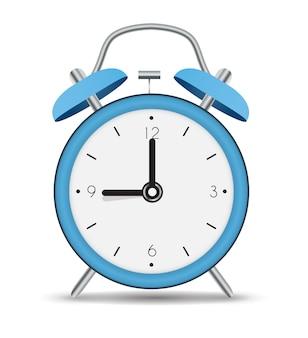 Icona della sveglia isolati su sfondo bianco.