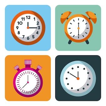 Pianificazione aziendale della gestione del tempo cronometro della sveglia