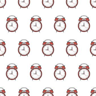 Sveglie seamless pattern. illustrazione del tema dell'orologio