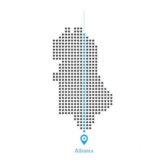 Albania doted map design vettoriale