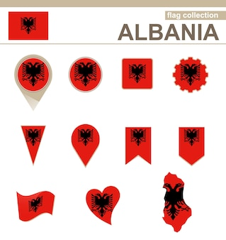 Albania flag collection, 12 versioni