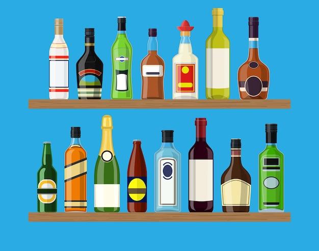 Collezione di bevande alcoliche
