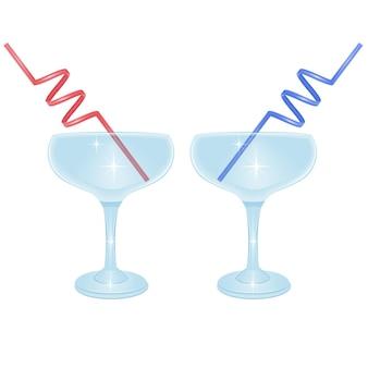 Insieme di set di bevande cocktail alcoliche