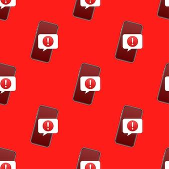 Modello di notifica mobile del messaggio di avviso. avviso di errore di pericolo. illustrazione vettoriale.