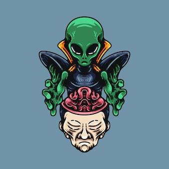 Umano di lavaggio del cervello alieno
