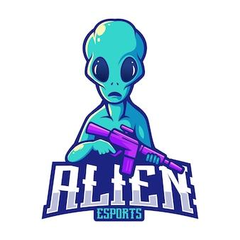 Alien esport mascotte logo design