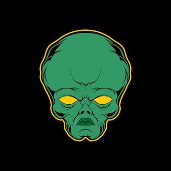 Illustrazione della testa aliena