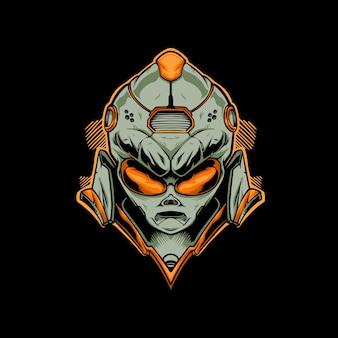Illustrazione del logo della maschera aliena