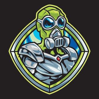 Alien ranger esport logo illustrazione