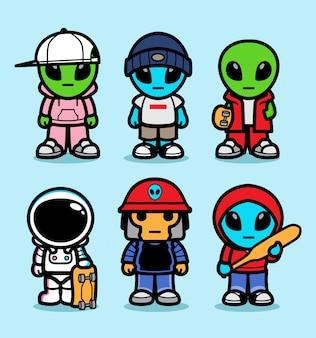 Skateboard alieno