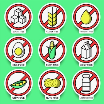 Set di adesivi senza allergeni