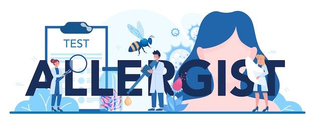 Intestazione tipografica di allergologo