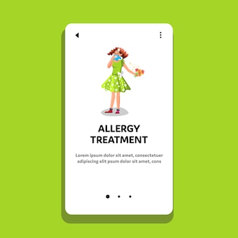 Trattamento di allergia e assistenza sanitaria della donna