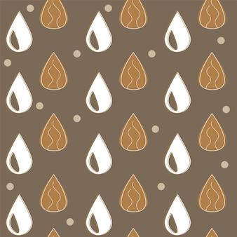 Latte di mandorle - set vettoriale di elementi di design e pattern per il confezionamento di sfondo in stile lineare